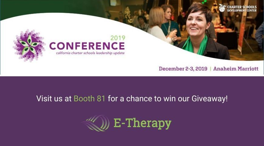 E-Therapy attends California Charter Schools Leadership Update Conference