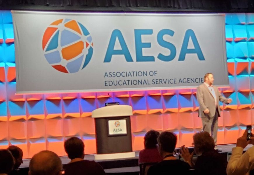 Tom Murray addresses 2019 AESA Conference