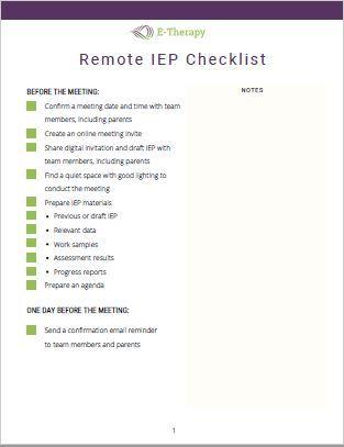 remote IEP meeting