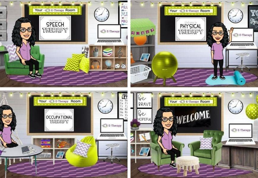 bitmoji classrooms for therapists